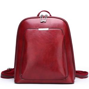 Image 3 - 2019 Summer fashion women backpack high quality leather backpacks female bagpack solid school shoulder bag for girls Sac a Dos