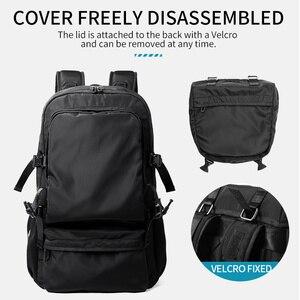 Image 4 - MOYYI 2019 nouveau Style sacs à dos léger avec grande capacité détachable rabat deux en un sacs à dos hommes sac