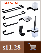 H53d7dd20827d45749a2a13fe52dfa805a BAKALA Luxury Matte Black Bathroom Faucet Basin Sink Tap Wall Mounted Square Brass Mixer Tap LT-320BR
