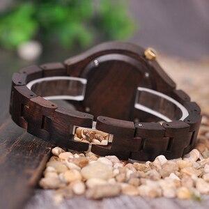 Image 5 - BOBO BIRD nouveau luxe dames bois montres conception spéciale à la main en bois montre bracelet pour les femmes relogio feminino livraison directe