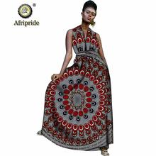 Африканские длинные макси платья для женщин платье с принтом