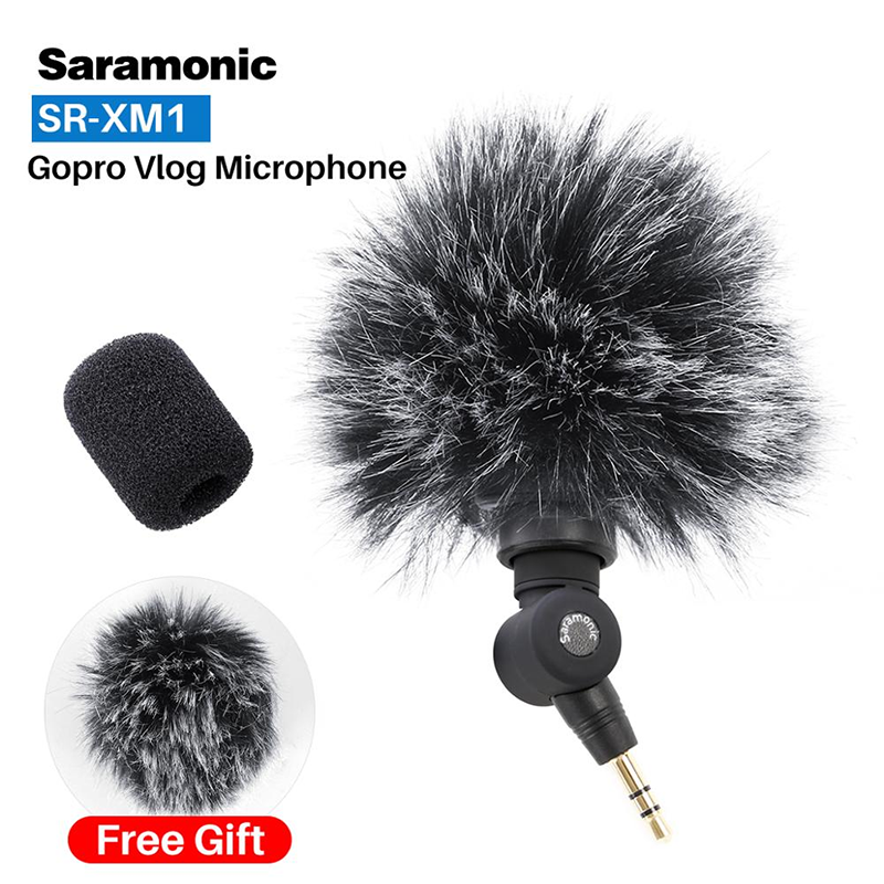 Saramonic SR-XM1 Wireless Record Vlog Microphone 3.5MM Jack TRS Plug And Play Mic For Action Camera DSLR Sony RX100 VII Camixer