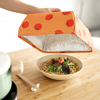 Dust Table Cover Foldable Insulation Meal Cover With Aluminum Foil Food Insulation Cover Hot Dish Insulation Cover Insulation Co фото