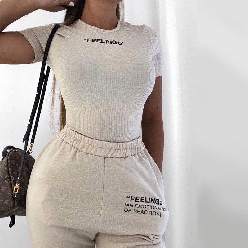 NCLAGEN FEELINGS Embroidery Short Sleeve Bodysuit 2020 Romper Elastic Body Suit Women Jumpsuit Overalls Knit Tops Ropa Mujer