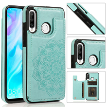 Flower Flip Leather Wallet Case for Huawei P30 P40 Lite Pro Plus Mate 20 Lite 30 Pro Card Slots Funda Protect Cover Back Coque
