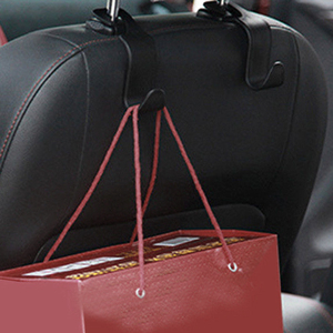 Image 5 - Car Seat Hook Auto Fastener Clip Headrest Hanger Bag Holder for Car Bag Purse Cloth Grocery Storage Accessries