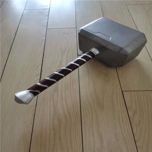 Cosplay Thor's Hammer 1:1 Thor Thunder Hammer Prop Weapon Model Movie Role Playing Safety 44CM PU Material Halloween Gift Prop