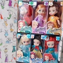 6 шт./компл. Disney Frozen 2 Анна Эльза принцесса фигурки модель игрушки Белоснежка маленькая Русалочка Коллекционная кукла подарок для девочек