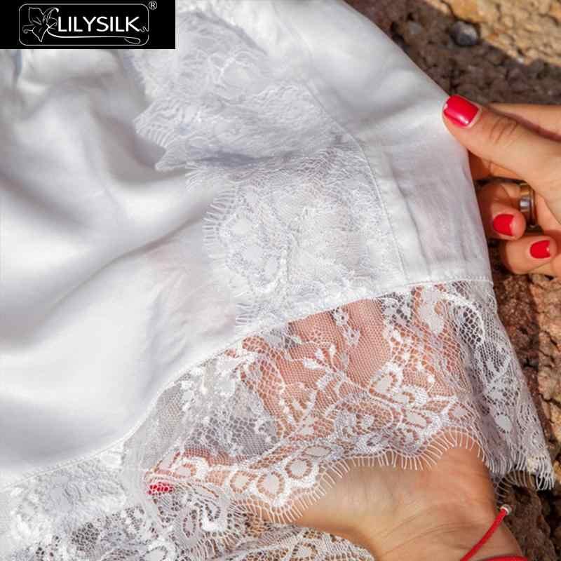 LilySilk jedwabiu szorty koronki 19 Momme damskie ultra miękkie wygodne śliczne klub modalne majtki bielizna krótkie