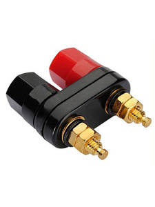 Plug-Jack Connector Amplifier Banana-Speaker Terminals Binding-Post Couple Top-Selling