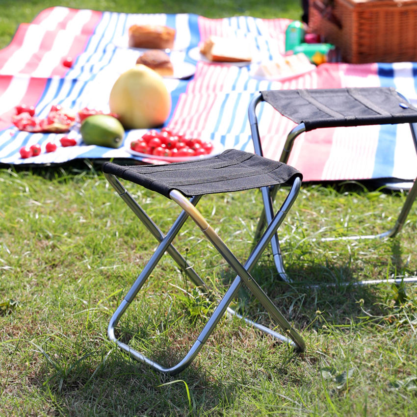 Camping Stool, Folding Samll Chair Portable Outdoor Stool with Carry Bag for Camping Fishing Hiking Gardening, S, L, XL
