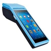 Computador portátil da posição 5.5 Polegada imprensa 3g wifi bluetooth android pda terminal de pagamento móvel com impressora térmica (plugue da ue)