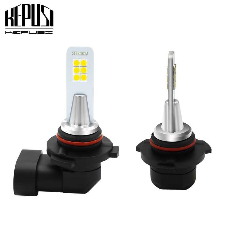 2x9006 HB4 Led Sis lamba ampulü Oto Araba Motor Kamyon 12w 3030 12smd Sürüş Koşu Işık DRL 12V 24V Beyaz 9006 led sis lambası