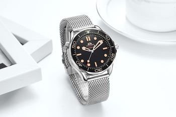 Automatic Self Wind Mechanical Net Stainless Steel Nylon Strap Luxury Men New Limited Watch 3