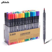 STA 80 Colors Dual Head Artist Water Based Ink Sketch Marker Pens Twin Tip Fine Brush Marker Pen For Drawing Manga Art Supplies