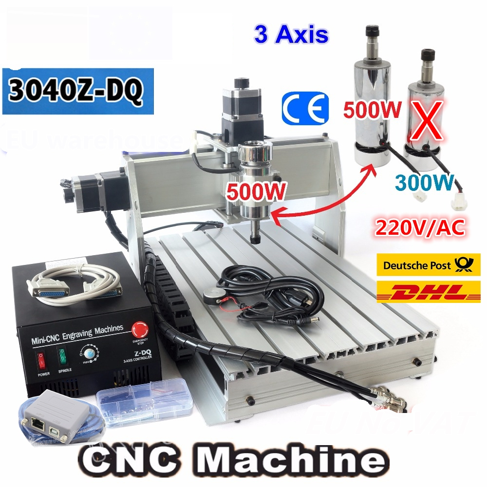 Desktop 3 Axis 3040 CNC USB Mach3 500W 3040Z-DQ Ball Screw 3040 CNC Router ENGRAVER/ENGRAVING Milling Cutting Machine 220V