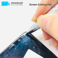 Novecel-pluma de corte de pantalla profesional para teléfono móvil, cortador de pantalla curvada, herramientas de reparación de separación de vidrio agrietado