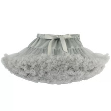 pink Baby Girls Tutu Skirt Fluffy Children Ballet Kids Pettiskirt white gray Gir