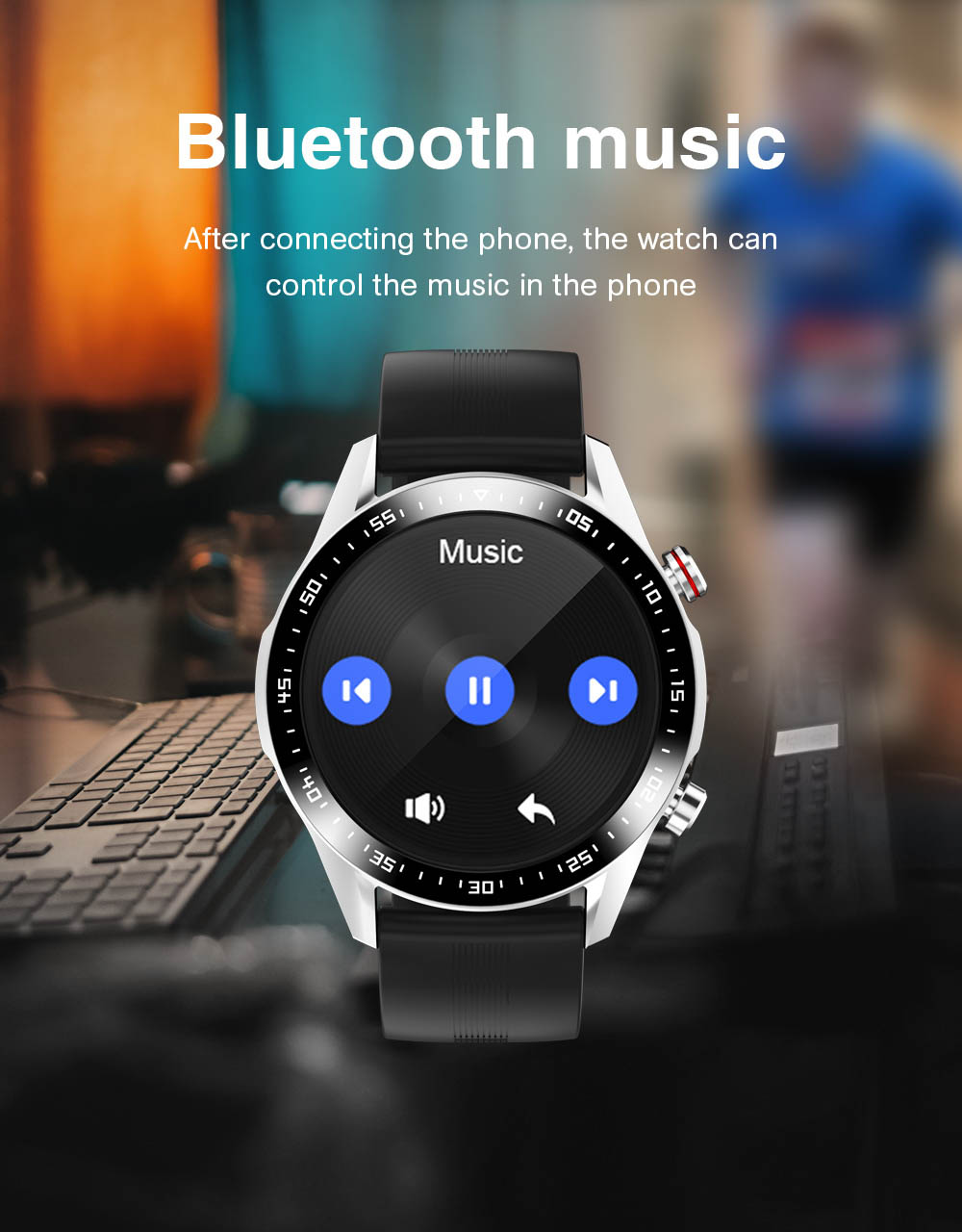 H53d8df387c3e4fe58deb2a735e456fb1S E1-2 Smart Watch Men Bluetooth Call Custom Dial Full Touch Screen Waterproof Smartwatch For Android IOS Sports Fitness Tracker