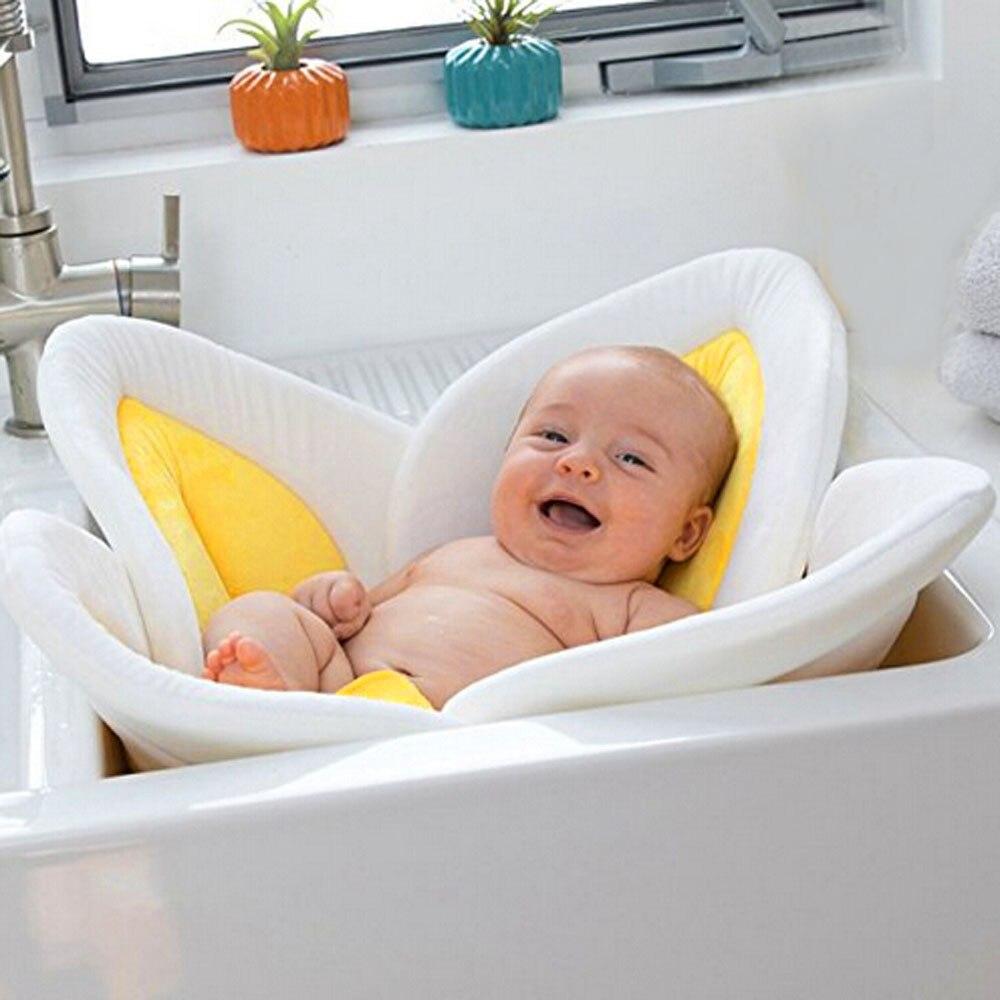 Newborn Baby Bathtub Blooming Bath Flower Bath Tub for Baby Blooming Sink Bath For Baby Infant Lotus Sunflower Cush Baby Tool