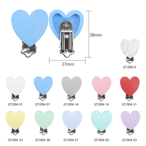 Image 5 - TYRY.HU 10pc/set Heart Love Pacifier Clip Silicone  Baby Teether teething Accessories Clip Non toxic Clasps DIY Bead Tool