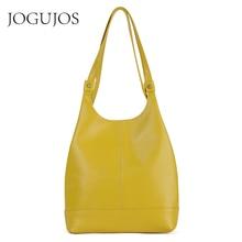 JOGUJOS Genuine Leather Handbag Fashion Women Shoulder Messenger Bag Leather luxury Ladies Tote Bags for Women Brand Handbags