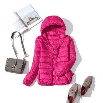New Brand 90% White Duck Down Jacket Women Autumn Winter Warm Coat Lady Ultralight Duck Down Jacket Female Windproof Parka 27