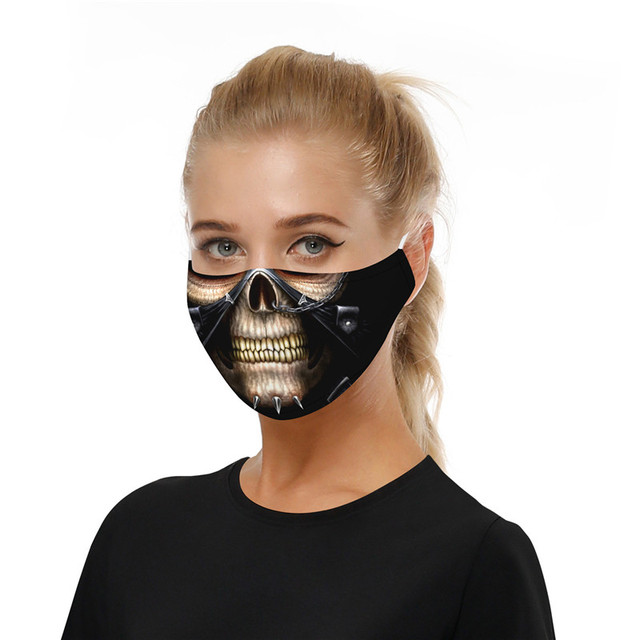 Print Mouth Mask Washable Cotton PM2.5 Filter Mask Anti Dust Face Mask Reusable Mouth-muffle Bacteria Proof Flu Adult Mask 2