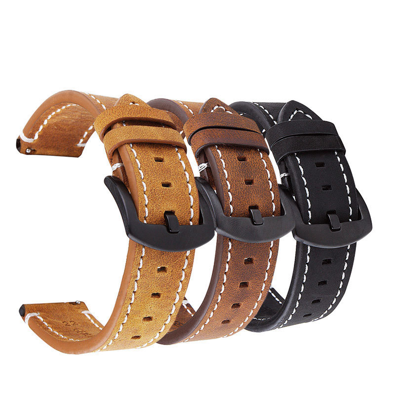 UTHAI P18 Watchbands 18mm 20mm 22mm High-end retro Calf Leather Watch band Watch Strap with Genuine Leather Straps