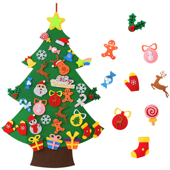 DIY Felt Christmas Tree Merry Christmas Decorations For Home 2020 Christmas Ornaments Xmas Tree Navidad New Year Gifts for Kids недорого