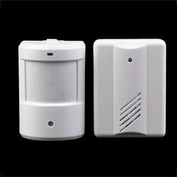 Draadloze IR Remote Security Deurbel Alarmsysteem Draadloze Detector Alarm Oprit Patrol Garage Infrarood Motion Sensor Wit