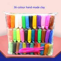 36 cores/conjunto super leve argila luz de secagem ar diy plasticina modelagem argila artesanal aprendizagem educacional crianças artes e ofícios