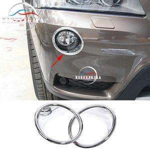 Fit For BMW X3 F25 11-14 2pcs Chrome Front Upper Fog Light Lamp Dec Cover Trim