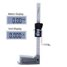 Цифровой высотомер 0-150 мм 0,01 мм мини из нержавеющей стали электроники маркировочный Калибр измеритель Scriber Vernier ортодонтический измеритель