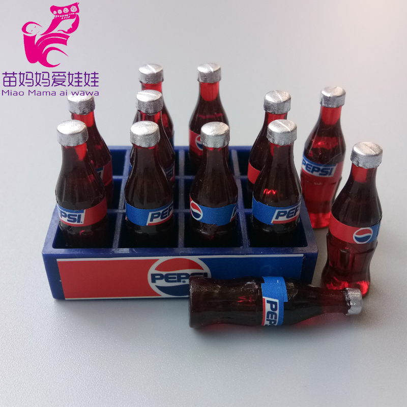 Doll House Accessories Mini Pepsi Bottle Toys Mini Wine Cola Bottle For Barbie Doll Licca Blythe Doll Drinks Food Cookie