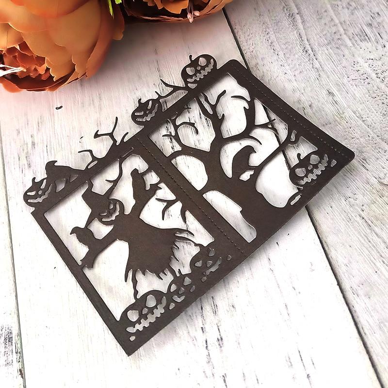 11 9 9 7cm Happy Halloween Metal Cutting Dies Scrapbooking Holiday Pumpkin Craft Die Cut Carbon Steel Create Stamps and Dies in Cutting Dies from Home Garden