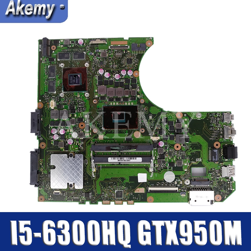 Akemy N552VX материнская плата для For Asus N552V N552 ноутбука I5 6300HQ GTX950M/2G Материнские платы