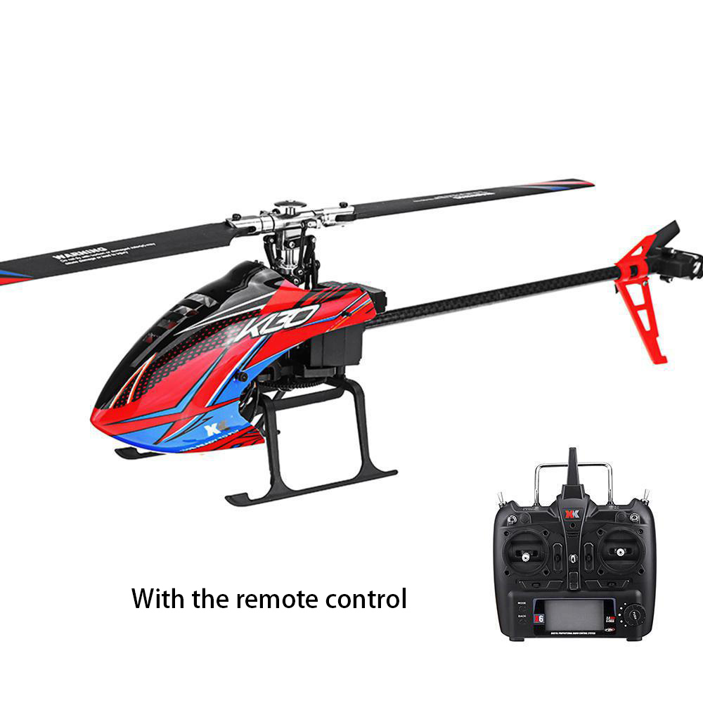 K130 Flybarless Beginners Rechargeable Remote Control Brushless Motor Flying Mini 3D 6G RC Helicopter 6CH Compatible With FUTABA