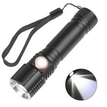 60000LM Flashlight T6 LED Flashlight USB Rechargeable Torch Zoom High Bright 3 Modes Dimming Flashlight Lantern Touch Switch