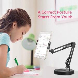 Image 2 - Faltbare Lange Arm Tablet Ständer Halter Desktop Handy Unterstützung Halterung 360 Grad Faule Halterung Für Aufnahme Video Make Up Live
