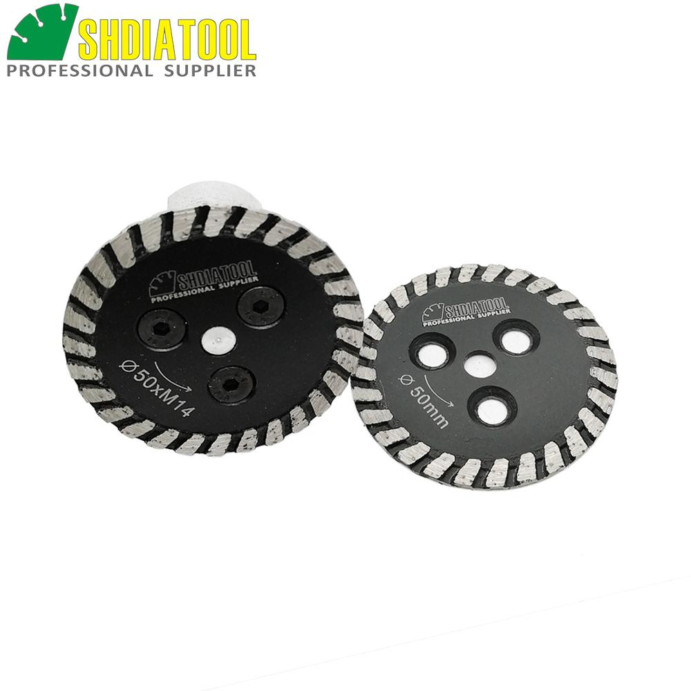 SHDIATOOL 1pc Hot Pressed Mini Diamond Saw Blade Cutting Granite Marble Disc Wheel With Removable M14 Long Flange And 1pc Blade