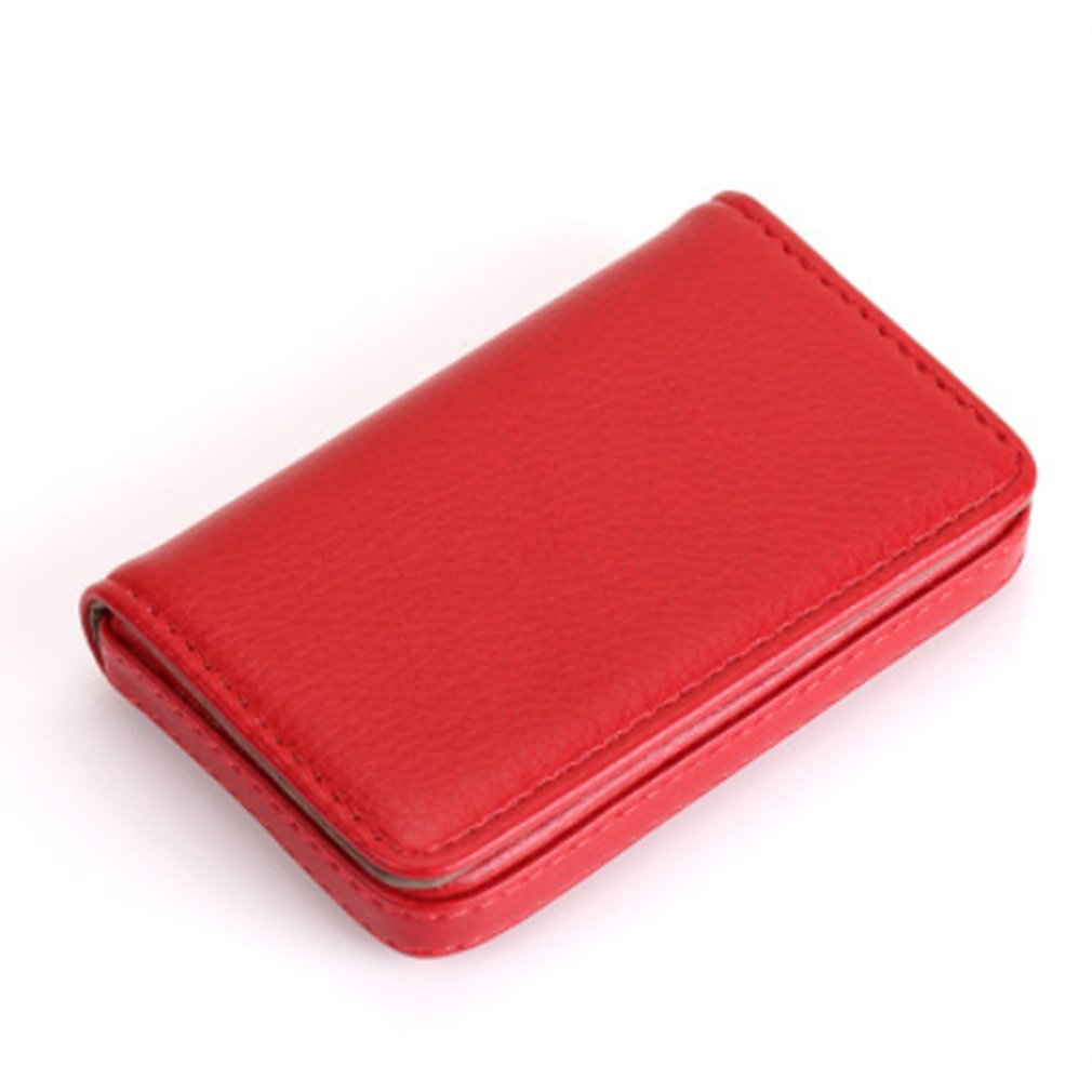 Portable Mini Magnetic Design Card Holder Bag Business Card Package PU Card Case For ID Cards Credit Cards