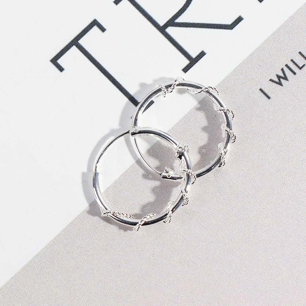 1 Pair Round Earrings For Men Women Simple Tiny Hoop Earrings Punk Hip-hop Circle Earrings Jewelry