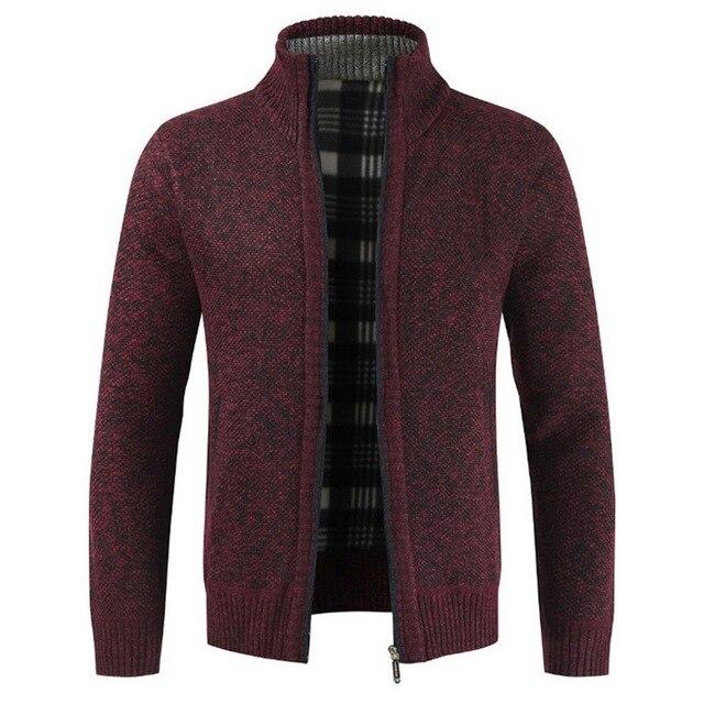 Moda męska jesień sweter płaszcz gruby swobodny sweter sweter mężczyźni marka Slim Fit dzianiny odzież wierzchnia ciepły zimowy sweter Jumper