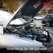 Capot pour VW SCIROCCO 2008 2017 R GTS GT24, capot de secours, ressort de choc à gaz, barres de suspension, Support tige hydraulique, salon de voiture