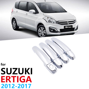 Luxurious Chrome Exterior Door Handles Cover Trim for Suzuki Ertiga 2012~2017 Car Cap Accessories Stickers Auto Styling 2008 image