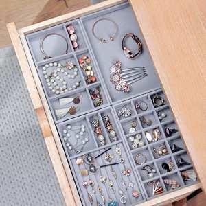 Storage-Box Jewelry Organizer Necklace Showcase Display-Ring Velvet Bracelet 4pcs/Lot