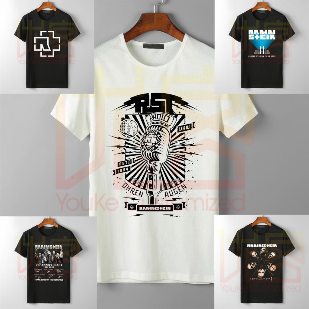 Rammstein T Shirt 2019 New Gothic Tee Shirt Multiple LOGO Options Homme Metal Band Rammstein Men Fashion Popular Tops