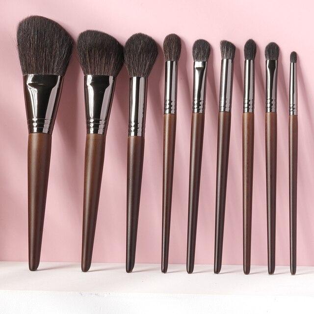 OVW All Goat Hair 7/8/9 PCS Makeup Brush Set Professional Cosmetic conjunto pinceis de maquiagem for Eye Shadow Face Contour 4