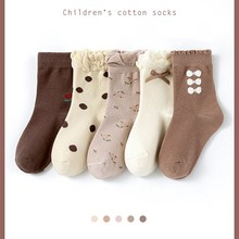 Girls' Socks In Autumn And Winter Cotton Baby Cotton Sox Children's Thickened Warm Cotton Middle Sox